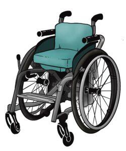 manuaalinen pyörätuoli.
